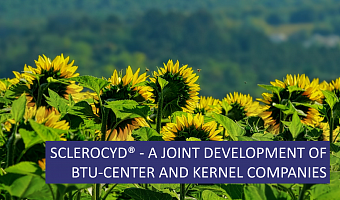 Science and production. SCLEROCID - a joint development of BTU-CENTER and Kernel companies