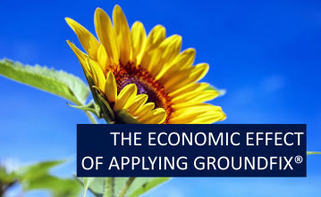 The economic effect of applying GROUNDFIX for corn and sunflower